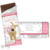 Personalised Boofle Flowers Milk Chocolate Bar - Personalise It!