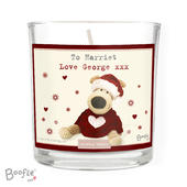 Personalised Boofle Christmas Love Scented Jar Candle - Personalise It!
