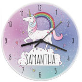 Personalised Unicorn Wooden Clock - Personalise It!
