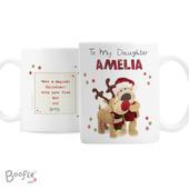 Personalised Boofle Christmas Reindeer Mug - Personalise It!
