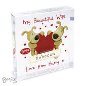 Personalised Boofle Shared Heart Large Crystal Token - Personalise It!