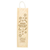 Personalised Christmas Frost Wooden Wine Bottle Box - Personalise It!