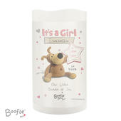 Personalised Boofle It's a Girl Nightlight LED Candle - Personalise It!