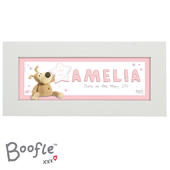 Personalised Boofle It's a Girl Name Frame - Personalise It!