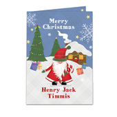 Personalised Tartan Santa Card Add Any Name - Personalise It!