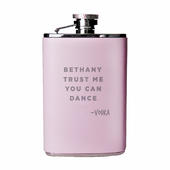 Personalised Signature Pink Hip Flask - Personalise It!