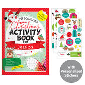 Personalised Christmas Activity Book with Stickers - Personalise It!