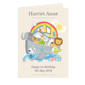 Personalised Noah's Ark Card Add Any Name - Personalise It!