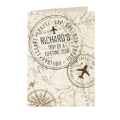 Personalised Travel Stamp Card Add Any Name - Personalise It!