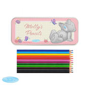 Personalised Me to You Pencil Tin with Pencil Crayons - Personalise It!