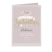 Personalised I Am Glad... Godmother Card Add Any Name - Personalise It!