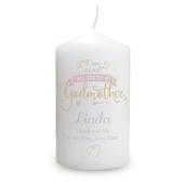 Personalised I Am Glad... Godmother Candle - Personalise It!