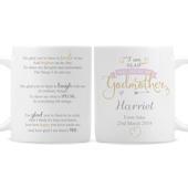 Personalised I Am Glad... Godmother Mug - Personalise It!