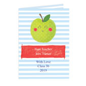 Personalised Apple for the Teacher Card Add Any Name - Personalise It!