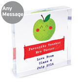 Personalised Apple for the Teacher Large Crystal Token - Personalise It!
