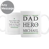 Personalised My Dad is My Hero Mug - Personalise It!