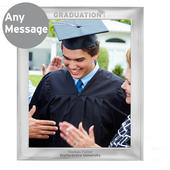 Personalised Graduation 8x10 Silver Photo Frame - Personalise It!