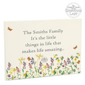 Personalised Country Diary Wild Flowers Canvas - Personalise It!