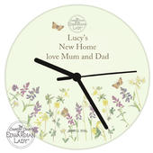 Personalised Country Diary Wild Flowers Glass Clock - Personalise It!