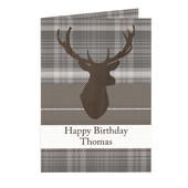 Personalised Highland Stag Card Add Any Name - Personalise It!