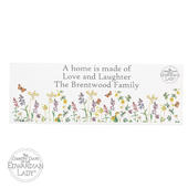 Personalised Country Diary Wild Flowers Wooden Block Sign - Personalise It!