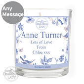 Personalised Country Diary Blue Blossom Scented Jar Candle - Personalise It!