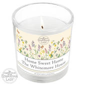 Personalised Country Diary Wild Flowers Scented Jar Candle - Personalise It!
