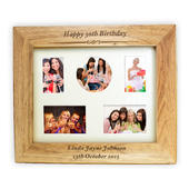 Personalised Any Message 10x8 Landscape Wooden Photo Frame - Personalise It!