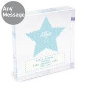 Personalised Stitch & Dot Baby Boy Large Crystal Token - Personalise It!