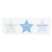Personalised Stitch & Dot Baby Boy Wooden Block Sign - Personalise It!