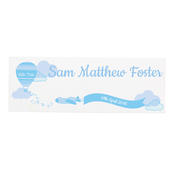 Personalised Up & Away Baby Boy Wooden Block Sign - Personalise It!