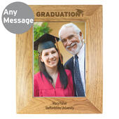 Personalised Graduation 5x7 Wooden Photo Frame - Personalise It!