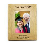 Personalised Graduation 4x6 Oak Finish Photo Frame - Personalise It!