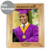 Personalised Graduation 8x10 Wooden Photo Frame - Personalise It!
