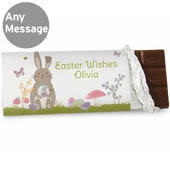 Personalised Easter Meadow Bunny Milk Chocolate Bar - Personalise It!