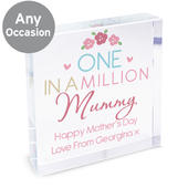 Personalised One in a Million Large Crystal Token - Personalise It!