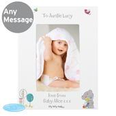 Personalised Tiny Tatty Teddy Cuddle Bug 4x6 White Photo Frame - Personalise It!