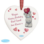 Personalised Me To You Heart Wooden Decoration - Personalise It!