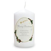 Personalised Traditional Christmas Candle - Personalise It!