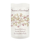 Personalised Christmas Floral LED Candle - Personalise It!