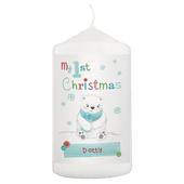 Personalised Polar Bear My 1st Christmas Candle - Personalise It!