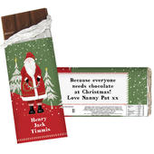 Personalised Father Christmas Milk Chocolate Bar - Personalise It!