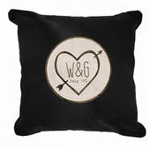 Personalised Wood Carving Black Cushion Cover - Personalise It!