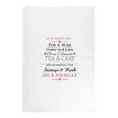 Personalised We Go Together Like.... White Tea Towel - Personalise It!