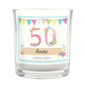 Personalised Birthday Craft Scented Jar Candle - Personalise It!