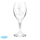 Personalised Me To You Wedding Female Wine Glass - Personalise It!