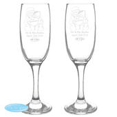 Personalised Me To You Engraved Wedding Pair of Flutes with Gift Box - Personalise It!