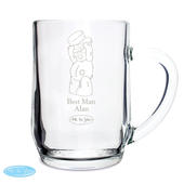 Personalised Me To You Engraved Male Wedding Tankard - Personalise It!