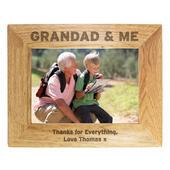 Personalised 5x7 Grandad & Me Photo Frame - Personalise It!