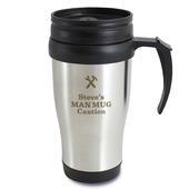 Personalised Man At Work Travel Mug - Personalise It!